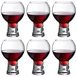Durobor Alternato Short Stem Bubble Base Wine Gin Glass - 540ml - Pack of 6 Glasses