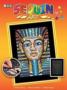 Sequin Art- Kit de Bricolaje para Niños, Tutankamon, CREA Bello Arte Colorido con Lentejuelas, (5013-1606)