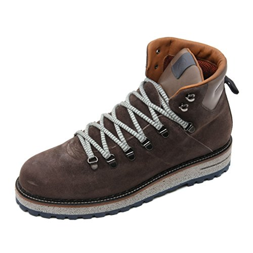 C3006 scarpa uomo BRIMARTS scarponcino grigio scuro fondo gomma shoe boot man Grigio scuro