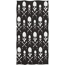Wamika Crossbones - Toalla de Mano con diseño de Calavera, Color Negro