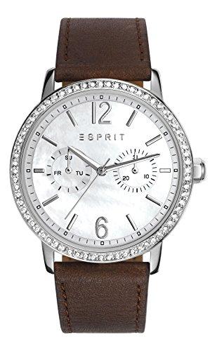 Kate Women'Esprit Damen Armbanduhr Analog Leder braun ES108092005