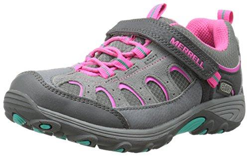 Merrell CHAMELEON LOW A/C WTPF Mädchen Trekking- & Wanderhalbschuhe Grau (Grey/Pink)