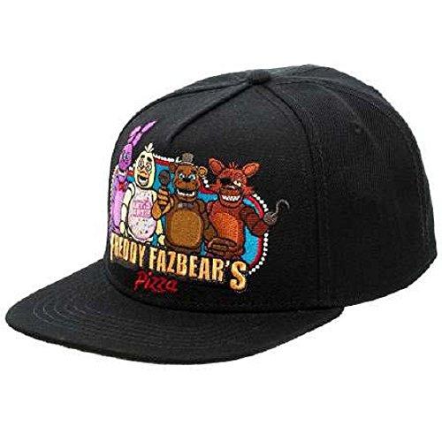 Bioworld schwarz Freddy fazbear 's Pizza Snapback Baseball Cap Fünf Nächte Bei Freddys Spielen