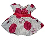 Wise Guys Party Wear Designer Frock for Baby Girls with Bow