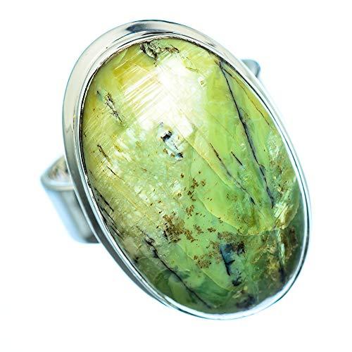 African Green Opal, Afrikanischer Grüner Opal 925 Sterling Silber Ring 8 (Ana Silver Co Ringe Grün)