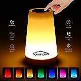 Touch Lamps Bluetooth Speaker, Famirosa Bedside Lamp Night Light Bluetooth Speaker Touch Control Colorful LED Speaker,USB Rechargeable Table Lamp for Children Home Bedroom Living Room
