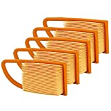 OuyFilters Pack of 5 Air Filter (with detailed size) Fit for Stihl BR500 BR550 BR600 4282-141-0300 4282 141 0300 4282 141 0300B Backpack Blowers Parts
