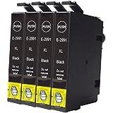4 x negro caidi con nuevo Chip actualizado Epson 29 XL Cartuchos de tinta compatible con Epson Expression Home XP-332 XP-335 XP-235 XP-432 XP-435 xp-245 xp-247 xp-342 xp-345 xp-442 xp-445 XP-330 XP-430