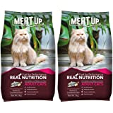 Meat Up Adult Cat Food, 3 kg (Buy 1 Get 1 Free)