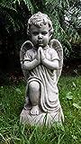 Praying Cherub a mano in pietra Angelo Decorazione da giardino/Statua/Scultura/Memorial