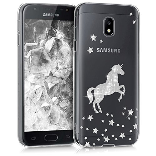 kwmobile Samsung Galaxy J3 (2017) DUOS Hülle - Handyhülle für Samsung Galaxy J3 (2017) DUOS - Handy Case in Silber Transparent