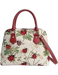 Ladybird Convertible Bag by Signare | Woman's Top-Handle Branded Fashion Shoulder Side Tapestry Handbag | 36x23x12.5 cm | (CONV-LDBD)
