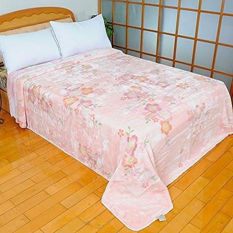 BDUK Manta encajes Raschel ] [ Plaire Primavera y Otoño y microfibra ultra suave y lujoso, manta de algodón y aire acondicionado