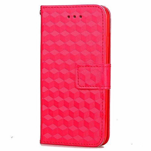 iPhone Case Cover Étui pour iPhone 7 Plus, étui en silicone chromé à diamants pour boîtier 3D Housse pour porte-monnaie pour étui pour iPhone 7 Plus ( Color : Blue , Size : IPhone 7 Plus ) Red