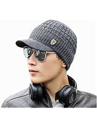 Bluestercool Berretto Invernale Uomo Con Visiera Cappelli Uomo Cotone  Eleganti 8a1022d69f3c