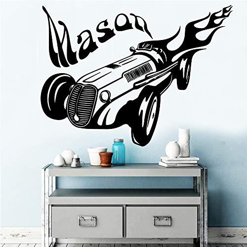 Custom Mason Selbstklebendes Vinyl Wasserdicht Wandtattoo Für Kinderzimmer Dekor Aufkleber Wandbild Adesivi Murali schwarz M 30 cm X 40 cm