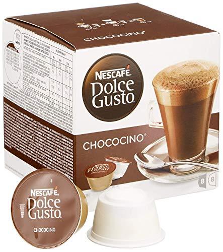 NESCAFÉ Dolce Gusto Chococino 16 Kapseln Trinkschokolade (Feiner Kakao Geschmack, Cremige Milch und beste Schokolade, Schnelle Zubereitung, Aromaversiegelte Kapseln) 1er Pack (1 x 16 Kapseln)
