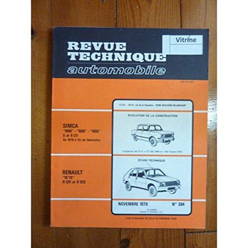 RTA0394 - REVUE TECHNIQUE AUTOMOBILE RENAULT R14 TS R1211 - R1212