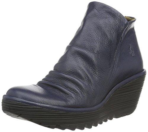 FLY London Damen Yip Kurzschaft Stiefel Blau (Ocean 039)