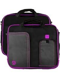 Vangoddy Pindar Tablettes PC portables et Tablettes tactiles Sacoche Nylon sac messsage bandoulière pour ordinateur portable pour 10 pouces 11 pouces et 8 pouces 7 pounces Tablettes (Lila)