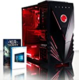 VIBOX Gaming PC - Explosion 41 - 4.2GHz AMD FX 8-Core CPU, Radeon RX 480, Extreme, Desktop Computer with 2 Game Bundle (Including DOOM), Windows 10 OS, Red Internal Lighting and Lifetime Warranty* (3.3GHz (4.2GHz Turbo) Super Fast AMD FX 8300 Eight 8-Core CPU Processor, AMD Radeon RX 480 8GB Graphics Card, 32GB DDR3 1600MHz High Speed RAM Memory, Super Fast 120GB Solid State Drive SSD, 3TB (3000GB) Sata III 7200rpm Hard Drive HDD, 600W 85+ PSU, Vibox Red Case, AM3+ Motherboard)