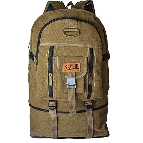ASD Rucksack männlich Gepäck Reisetasche große Kapazität Rucksack weiblich Tasche männlich Reisen im Freien Bergsteigen Tasche Schütteln tiefrosa Rucksack rosa braun Dicke Leinwand
