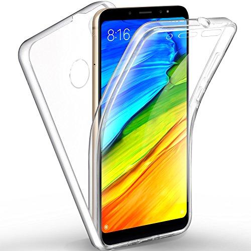 AROYI Funda Xiaomi Redmi Note 5, Ultra Slim Doble Cara Carcasa Protector Transparente TPU Silicona + PC Dura Resistente Anti-Arañazos Protectora Case Cover para Xiaomi Redmi Note 5