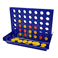 GLOW Travel 4 in a Row - Classic Family Game - Handy Pocket Sized for Trips & Holidays Folds Up Neatly for Easy Transportation - Fun 2 Player Compact Strategy Game for Children & Adults