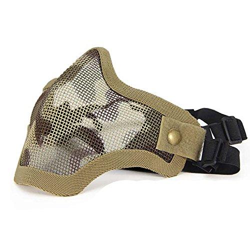 QMFIVE taktische stahlmatten masken hälfte gesichtsmaske schutzkleidung für airsoft paintball cosplay ()