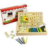 BBLIKE Montessori Mathe Spielzeug, Spielzeug Doodle aus Holz Zeichnung,Zeichnung Holzbrett Spielzeug Lernspielzeug für Kinder 3 4 5 Jahre Alt (Nummer)