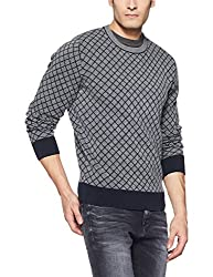 Tommy Hilfiger Mens Cotton Sweater (8907504768851_A7AMS147_M_Sky Captain)