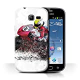 Stuff4 Coque de Coque pour Samsung Galaxy Trend Lite/S7390 / Croquis de Moto Design/Fragments Collection