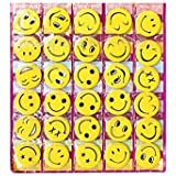 Friends Smiley Face Emoji Expressions Button Pins Badge Brooch (Set of 30)