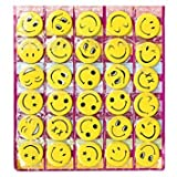 #10: Friends Smiley Face Emoji Expressions Button Pins Badge Brooch (Set of 30)