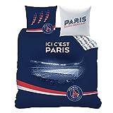 Housse de couette PSG Parc des Princes 220x240cm 100% coton 57fils