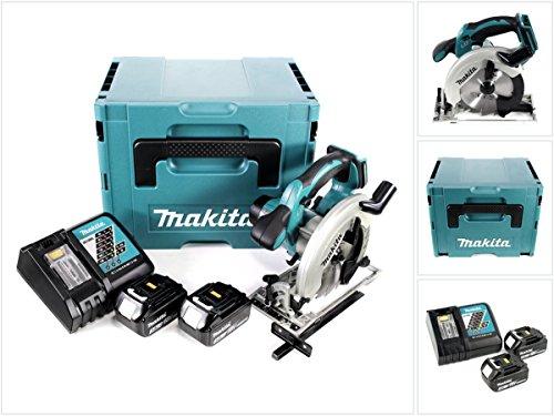 Makita DSS 611 RFJ 18V Li-ion Akku Handkreissäge im Makpac + 2x BL 1830 3,0 Ah Li-Ion Akku + 1x DC 18 RC Ladegerät
