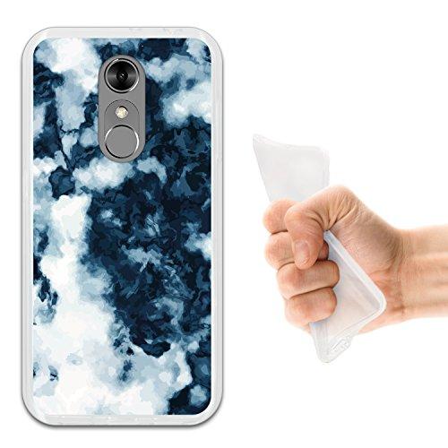 WoowCase ZTE Blade A910 Hülle, Handyhülle Silikon für [ ZTE Blade A910 ] Weißer und Blauer Marmor Handytasche Handy Cover Case Schutzhülle Flexible TPU - Transparent