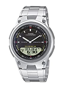 Casio Collection – Herren-Armbanduhr mit Analog/Digital-Display und Edelstahlarmband – AW-80D-1AVES