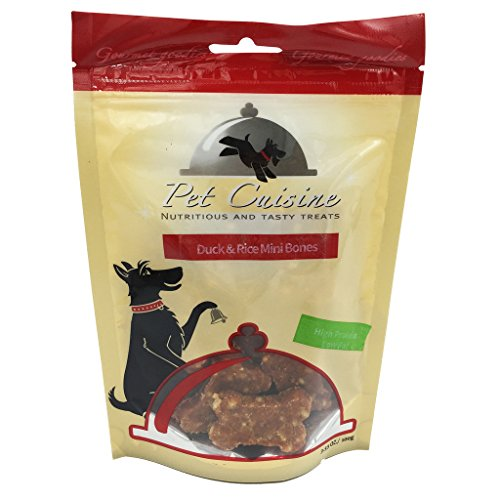 pet-cuisine-hundeleckerli-hundesnacks-welpen-kausnacks-knochenformige-ente-reis-mini-knochen-100g