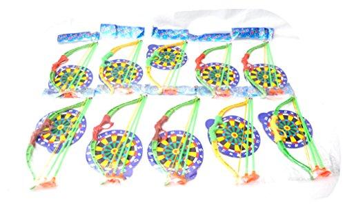 10 X Pfeil und Bogen Kinder Set + Zielscheibe Kindergeburtstag Bogenschießen by (Set Bogenschießen Kostüm)