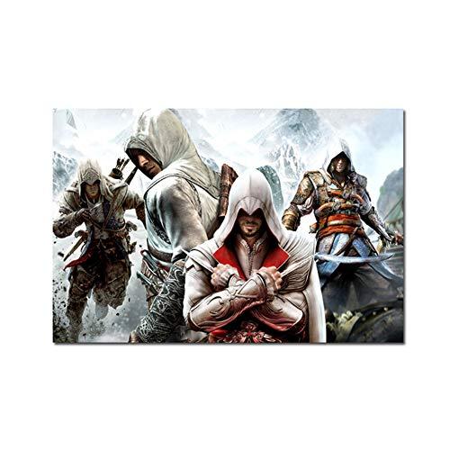 A&D Assassins Creed PlakatHD Anime Malerei Leinwandbilder druckenWandkunstraumKinderzimmer Dekoration Drucken für dasLeben auf Leinwand No Frame -60x100cm