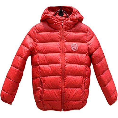 coffeepop-bambina-cappotto-spessore-caldo-ultraleggero-piumino-corto-con-cappuccio-tuta-red-150-cm