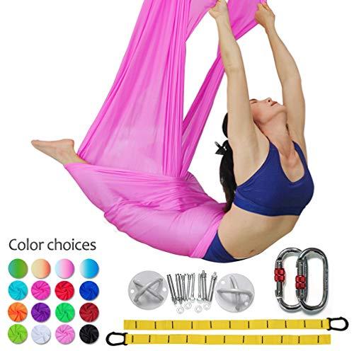 5m antigravity yoga amacadi yoga amaca per pilates altalena amaca altalena yoga attrezzatura per danza aerea yoga swing aerial silks (rosa)