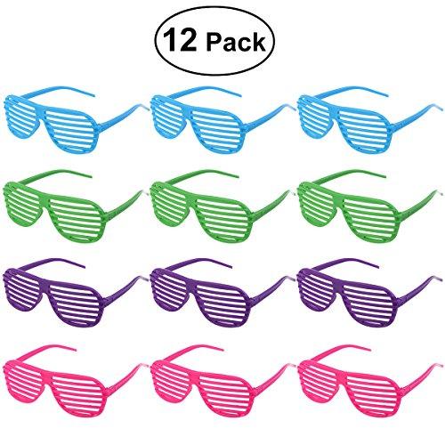 TINKSKY 12 Paare Shutter Shades Brille Sonnenbrille Party Requisiten (gemischte Farben)