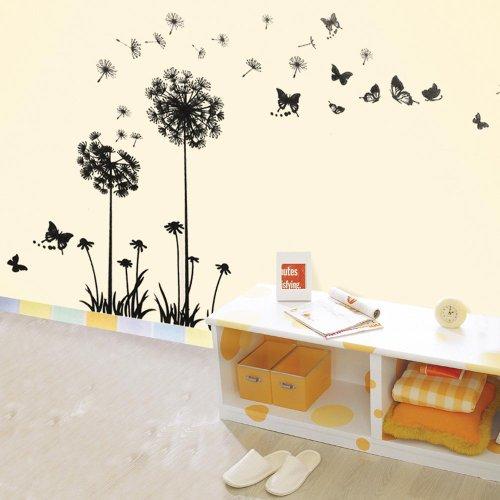 Walplus - sticker da parete con fiori, denti di leone