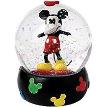 Enesco Enchanting Disney - Bola de nieve, Mickey, resina y vidrio, 10 cm