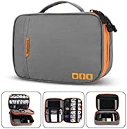 Acoki Travel Carry Bag,Double Layer Electronic Accessories Thicken Cable Organizer Bag Portable Case for Hard Drives, Cables, Charger, Kindle, iPad mini-L