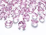 Schnooridoo 50 Diamanten Hellrosa 20mm Tischdekoration Streuartikel Hochzeit Taufe Konfirmation Event Deko