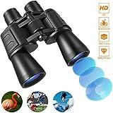 Tehwaaz Fernglas, 10x50 Ferngläser HD Kompaktes Teleskop Wasserdicht Feldstecher Fernglas für Kinder Erwachsene mit Tasche und Gurt-BAK4 Prismen/FMC Linse