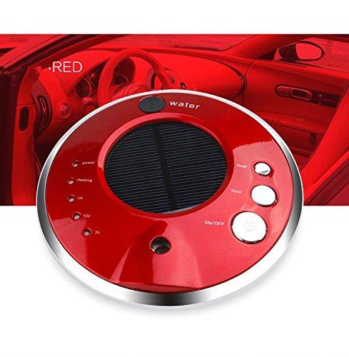VOSMEP Auto Ambientadores Purificador de Aire Casa Oficina Anión Humidificador Aroma Difusor Solar Quitar el Polvo, Bacteriana, Benceno y otras Sustancias Nocivas en el Aire Rojo CA9
